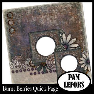 Scrapbooking TammyTags -- TT - Designer - Pam Lefors, TT- Item - Quick Page
