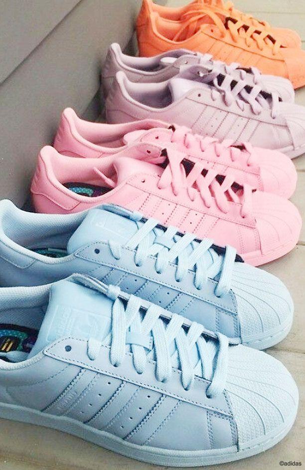 9af86da3c80a Pastel Adidas Superstar Sneakers