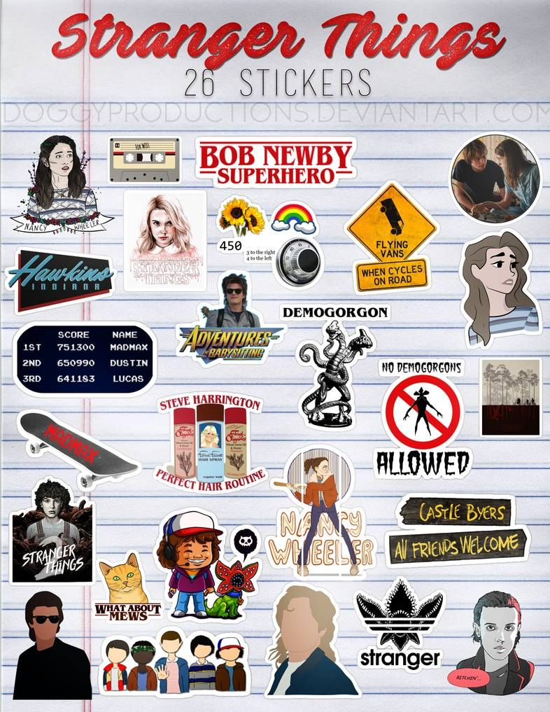 Stranger Things Stickers Png Pack 02 By Doggyproductions On Deviantart Stranger Things Sticker Stranger Things Quote Stranger Things