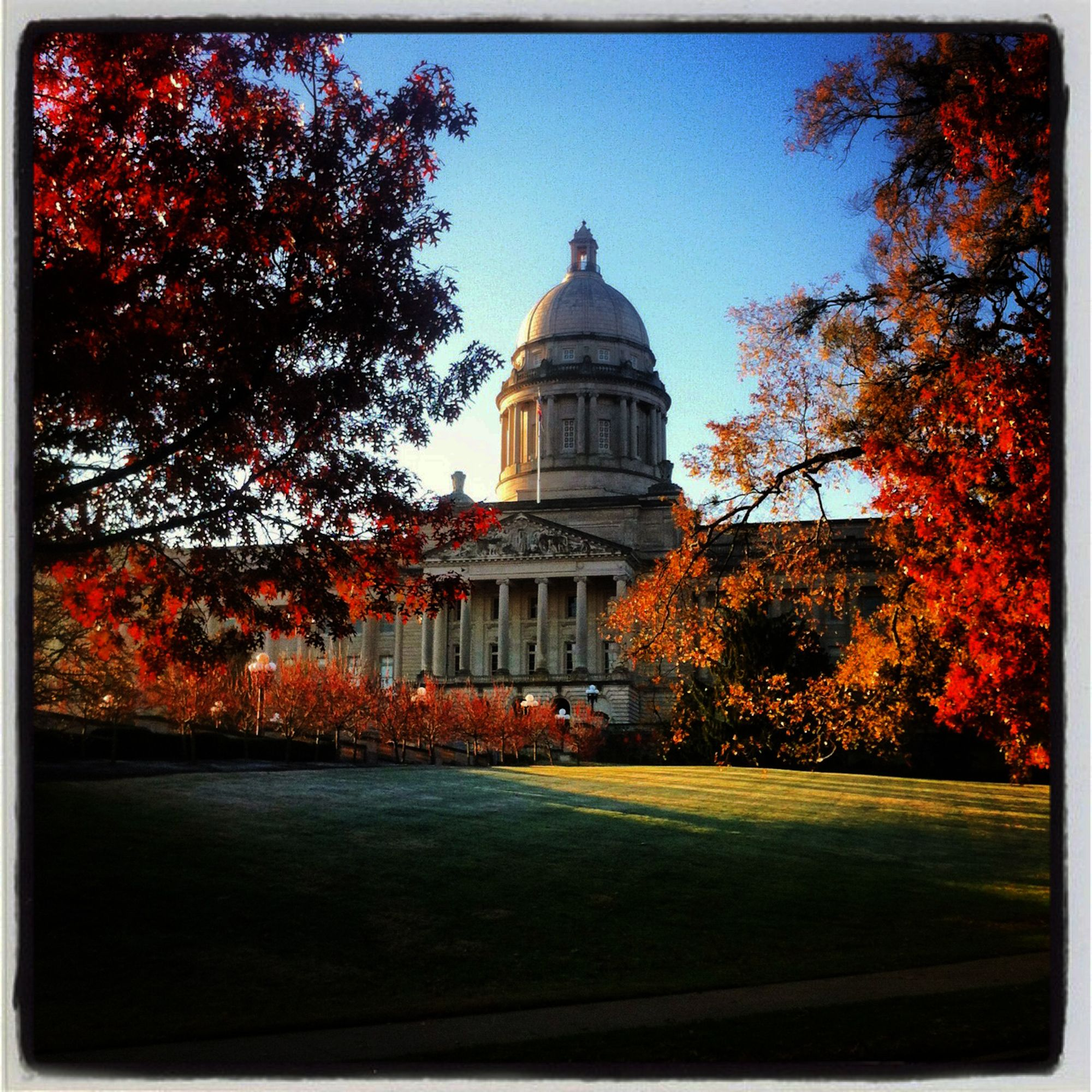 A Beautiful Fall Morning At The Kentucky State Capitol