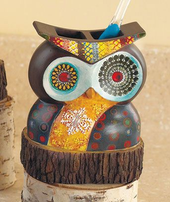 Owl Bathroom Decor From Abc Distributing My Hiding Place - Owl bathroom decor set for small bathroom ideas