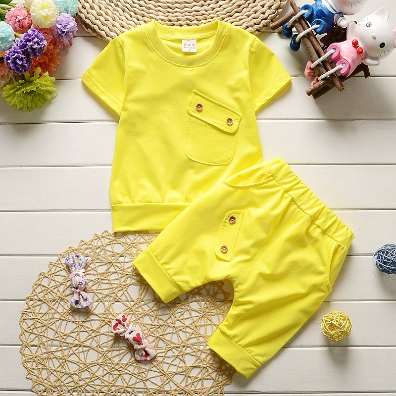 31bb7ab76 New 2017 Summer Baby Boys Girls Clothes Sets Casual Style Infant ...