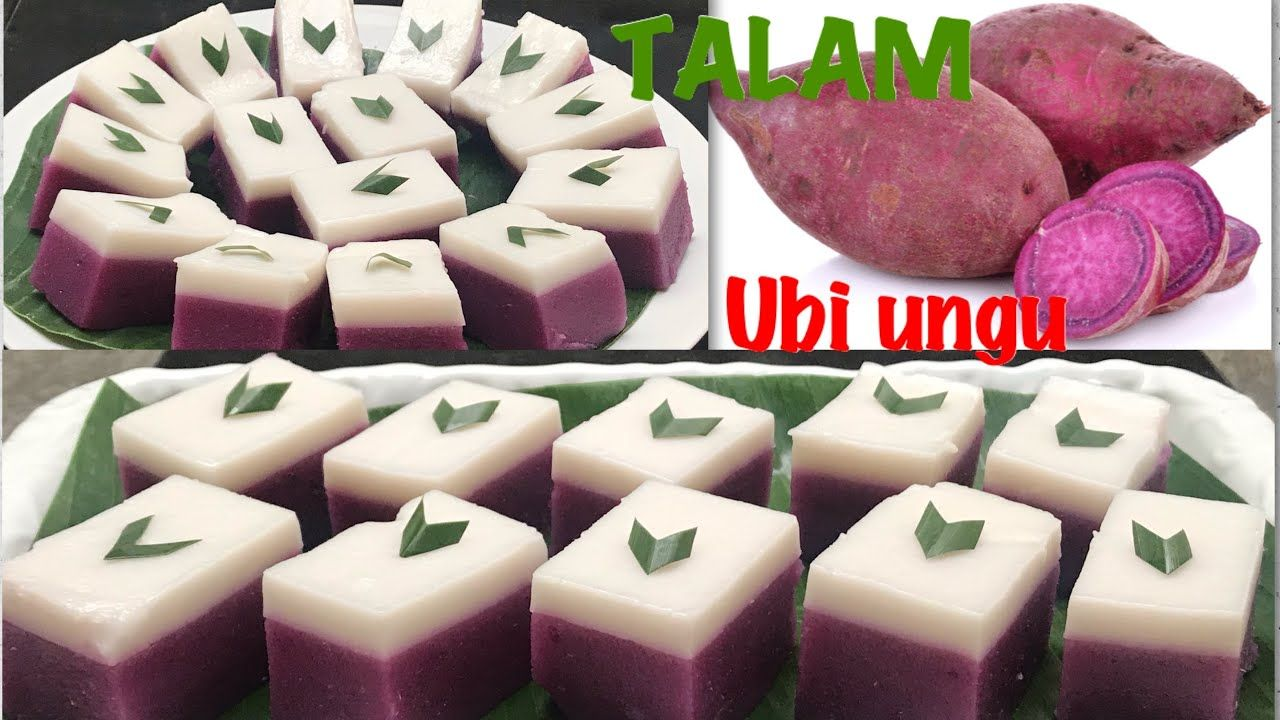 Kue Talam Ubi Ungu Yang Enak Dan Lezat Youtube Purple Sweet Potatoes Sweet Potato Snacks