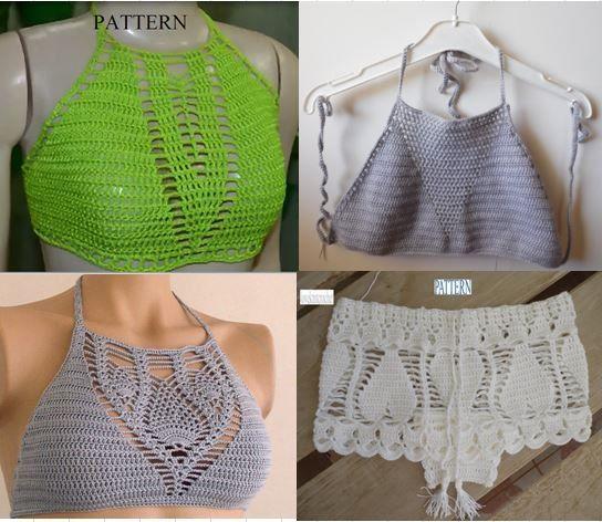 Crochet halter top pattern bikini pattern crochet pattern shorts crochet halter top pattern bikini pattern crochet pattern shorts pattern bikini top bikini bottom pattern free pattern dt1010fo