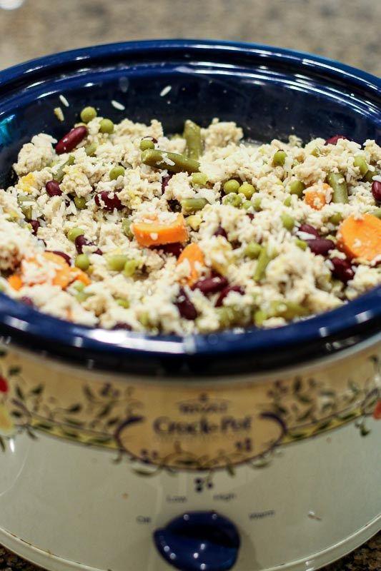 Easy Homemade Dog Food Crockpot Recipe With Ground Chicken