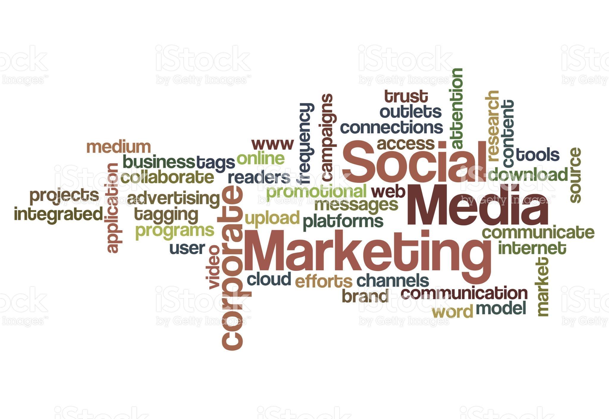 Social Media Marketing Concept Word Cloud On White Marketing Concept Media Marketing Social Media Marketing