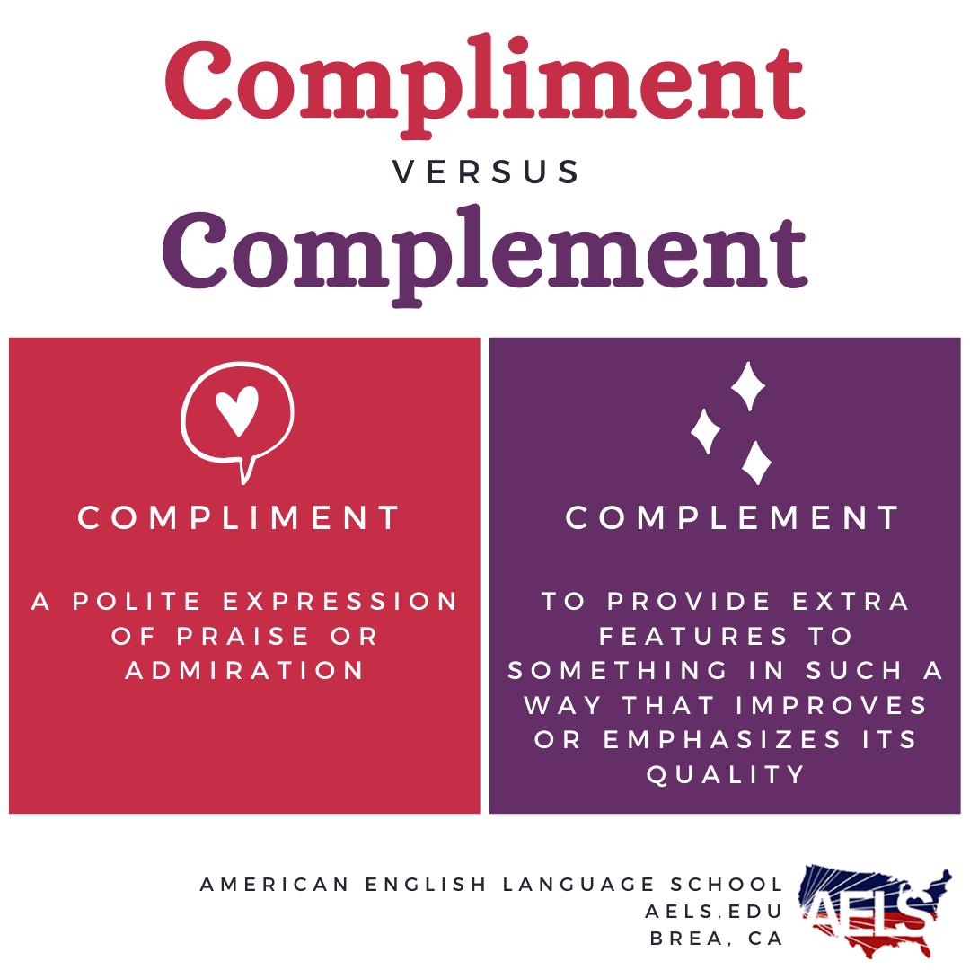 Compliment vs. Complement in 2020 Language school