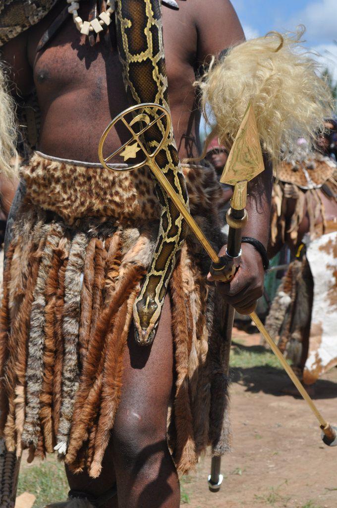Sangoma Khekhekhe's Golden Spear and Python