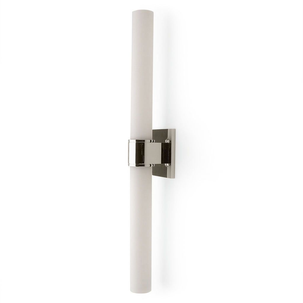 Opus wall mounted double arm sconce with cylinder shade brevard