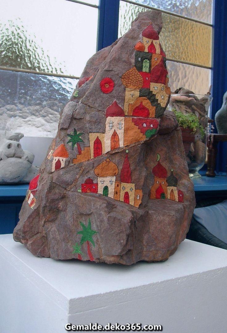 Atemberaubende bemalte Steine, Felsmalerei, Steinmalerei, Glücksteine, Pfriemeln, Richtschnur... #bemaltekieselsteine