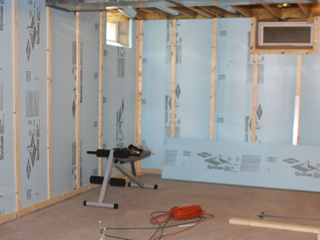 Finished Insulated Basement Wall How To