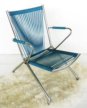 Vg148 Retro Foldable Chair Outdoor Chairs Chaise Chair Vintage Chairs