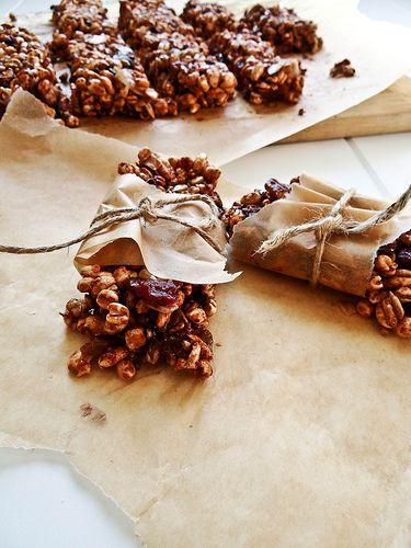 rice puffed fridge bars | Puffed rice, Easy snack recipes ...