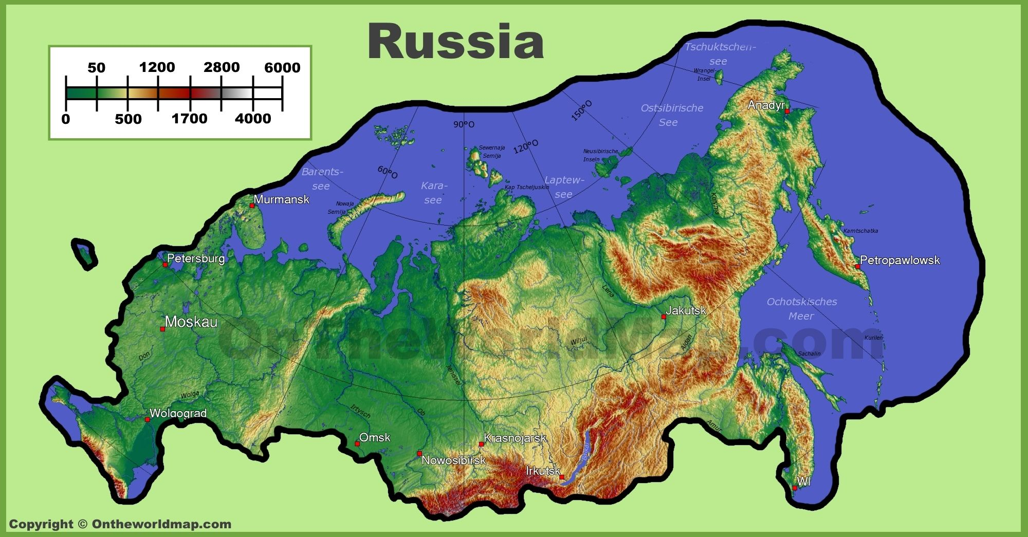 Russia Physical Map Geography Pinterest Russia - Physical world map svg