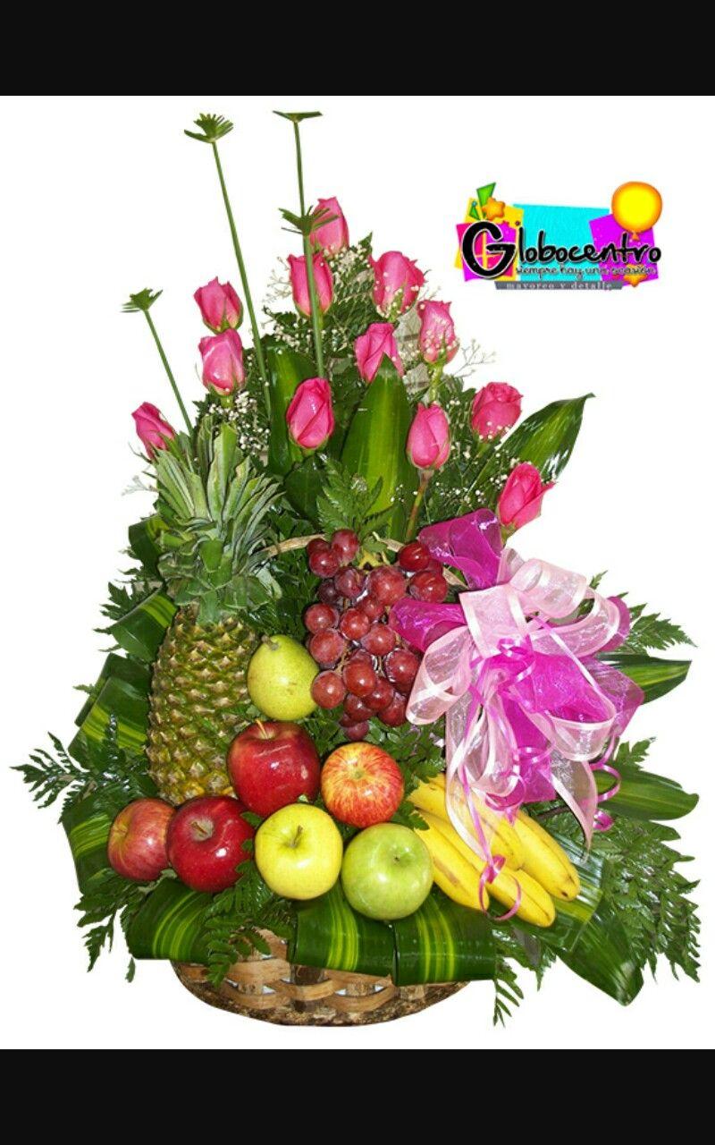 Arreglo frutal Arreglos de flores, Arreglos frutales