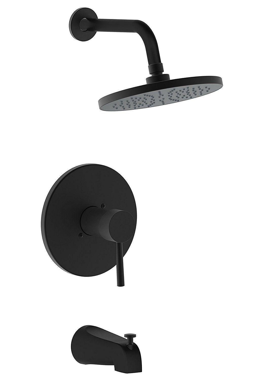 Derengge TF-0093-MT Single Handle Tub & Shower Faucet, Pressure ...