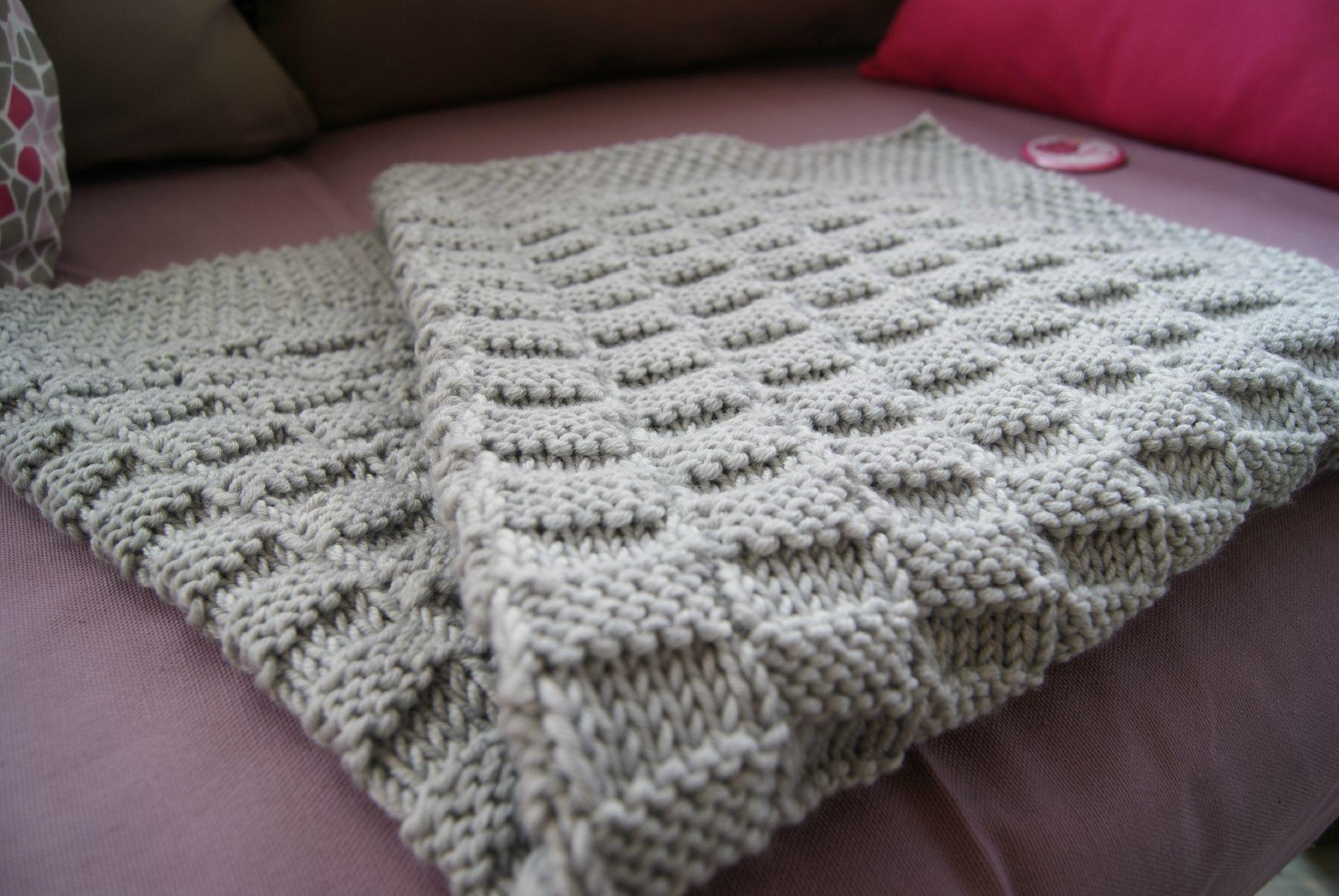 patron tricot couverture de bebe
