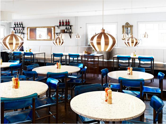 funkalistic restaurant in stockholm by codesign - Blue Restaurant Design