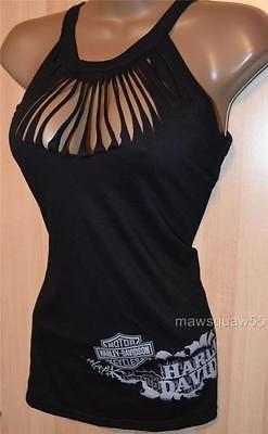Harley-Davidson Royal Blue Key hole Peek-a-boo tank top shirt Plus Size 1X