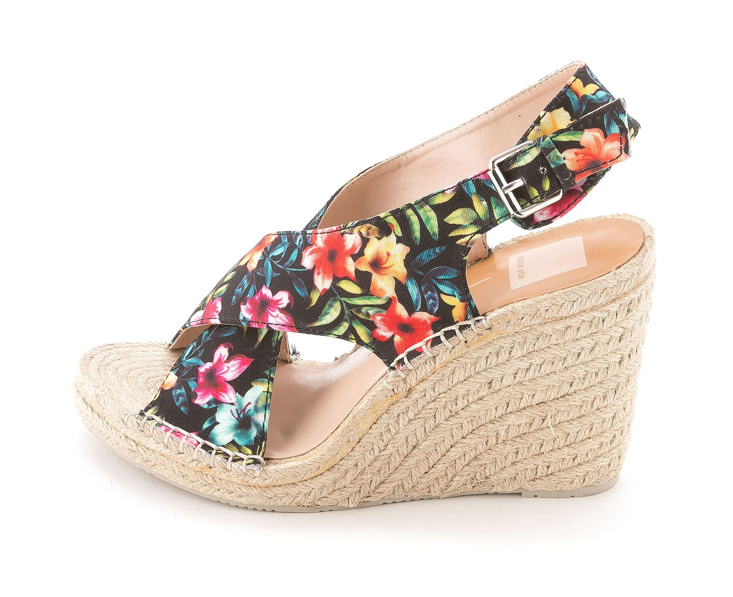 d50cad4dac00 Dolce Vita Sovay Tropical Floral Canvas Wedge Sandal Size 6. Beautiful  floral print on canvas. Buckle fastening. 3 inch heal height.