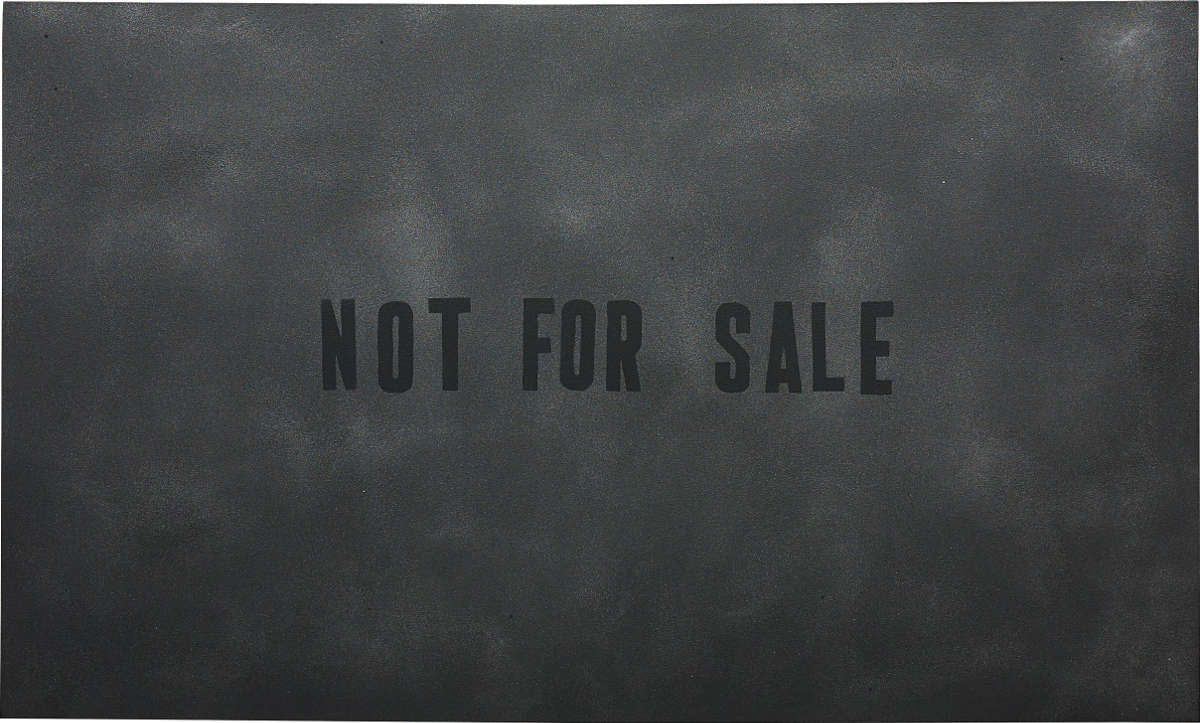 "Mark Flood""Not For Sale"". 2013."