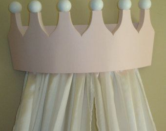 Pink Princess Bed Crown Valance / Canopy / by PrincessBedCrowns & Pink Princess Bed Crown Valance / Canopy / by PrincessBedCrowns ...