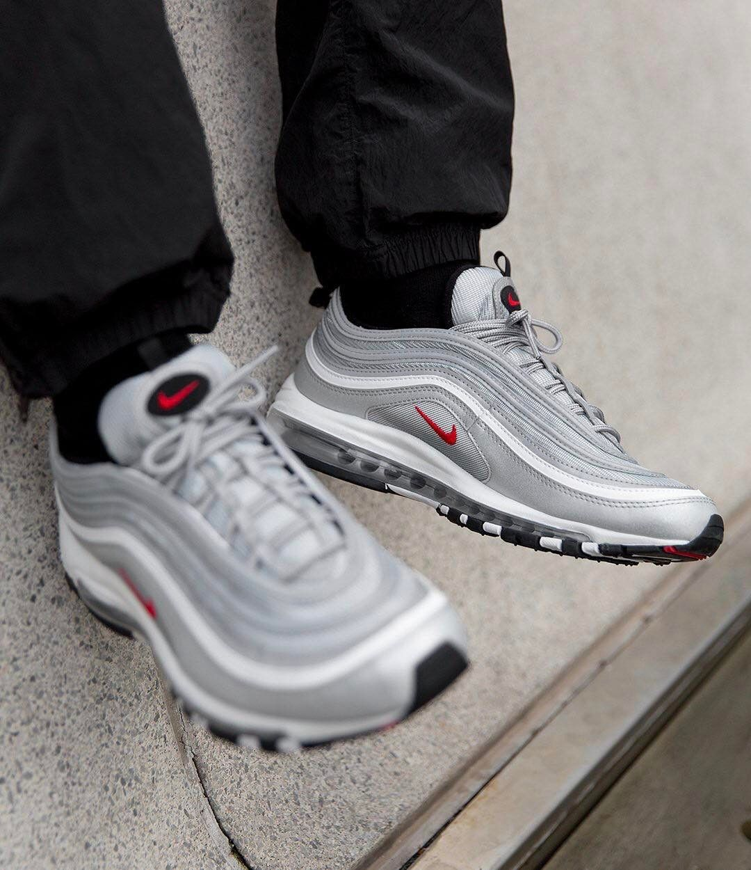 The Nike Air Max 97 Og Qs Silver Bullet Is In Stock Now With Worldwide Shipping Options Complete Your Look With S Nike Air Max Air Max Sneakers Nike Air