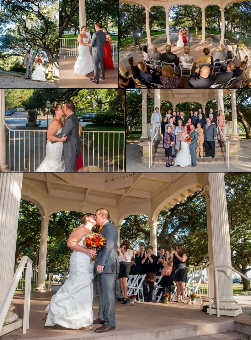 Small intimate wedding at the White Point Gardens Charleston Wedding ...