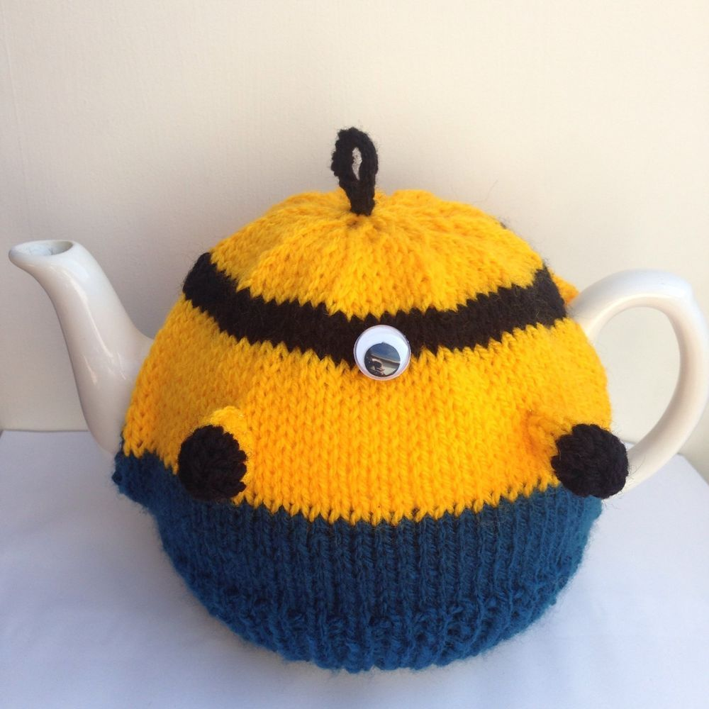Minions Tea Cosy Knitting Pattern - Birthday Present Gift Craft ...