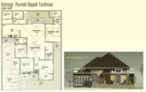 image result for gambar denah rumah luas 123 m2   rumah