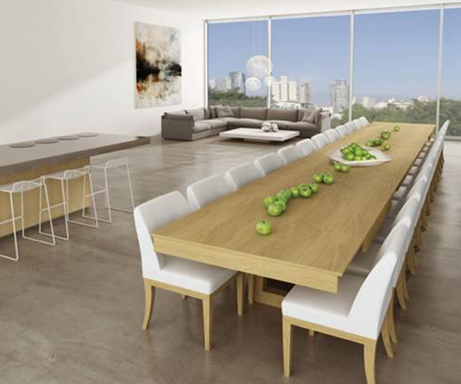 my dream dinning table: mega extending dining table | decor