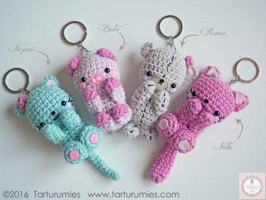 Llaveros Amigurumis Animales : Amigurumi patrón llaveros kawaii amigurumi patrones gratis en