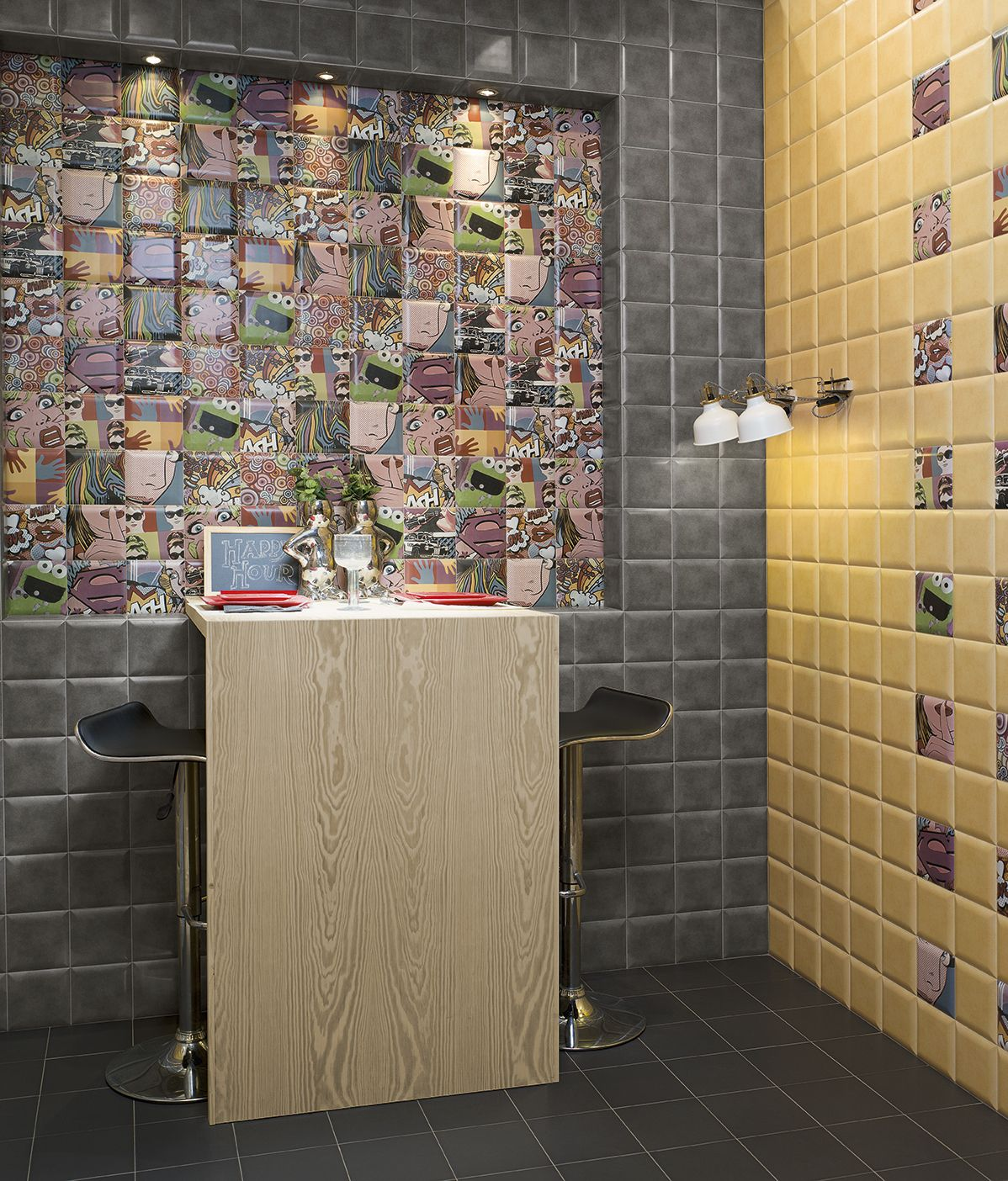 Mainzu bombato grey 15x15 cm pt02294 euro gray and tile design looking for new double fired tiles diamonds pop art effect wall tiles for your bathroom on youll find mainzu bombato grey cm at the best price dailygadgetfo Choice Image