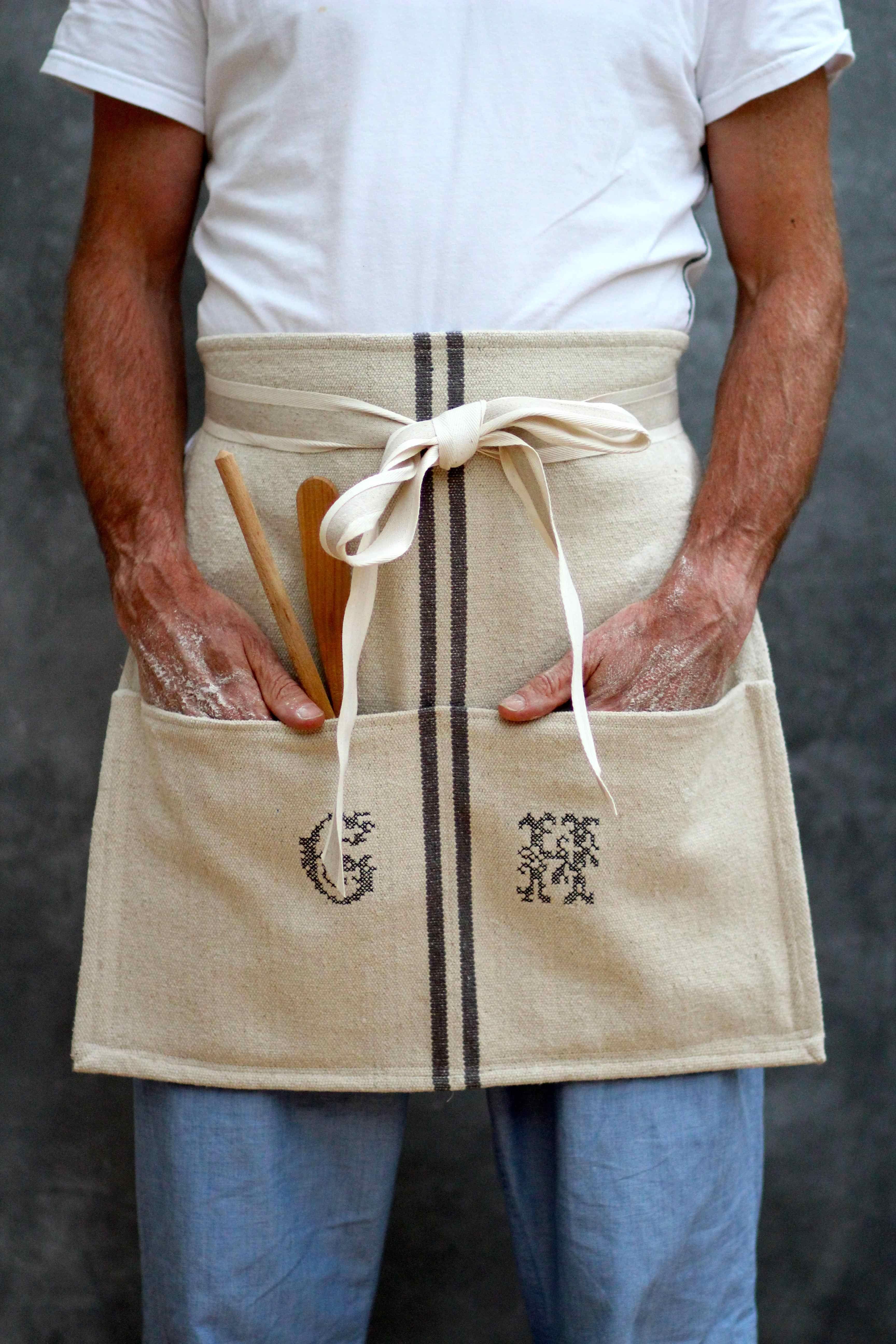 White tea apron - Diy Cafe Apron From A Tea Towel By Katescreativespace