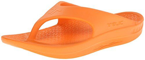 Telic Unisex Flip FlopSweet Tangerine5 B M US Mens6 D M US Womens ** More info could be found at the image url.(This is an Amazon affiliate link)