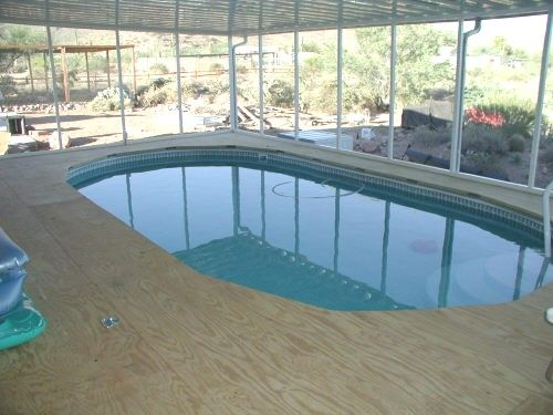 Above Ground Pool Decking Of This Job As It Was