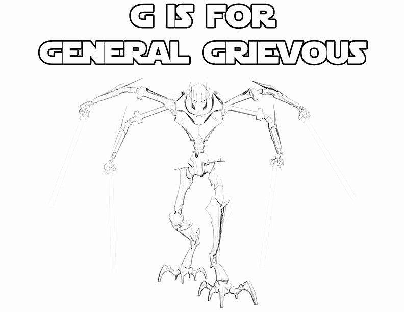 General Grievous Coloring Page Inspirational Star Wars Alphabet Coloring Page G Is Coloring Pages Inspirational Ninjago Coloring Pages Alphabet Coloring Pages