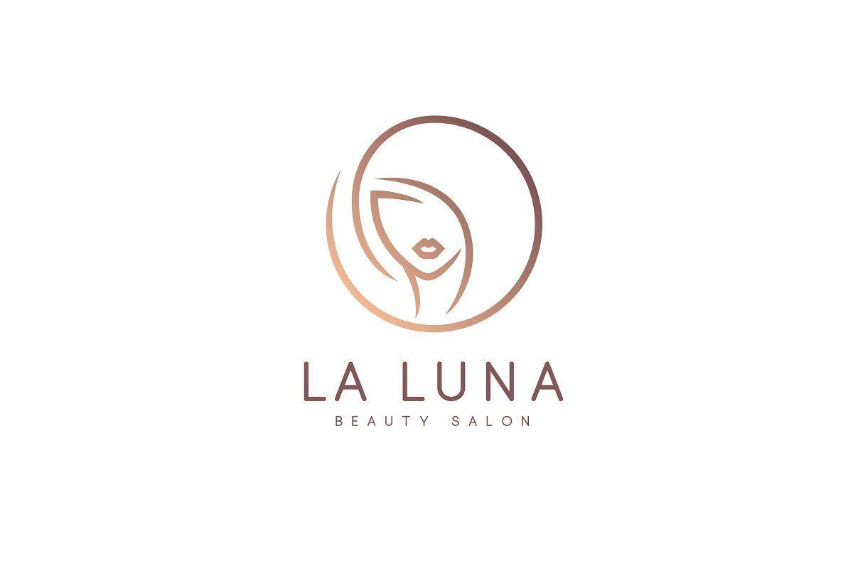 La Luna Logo Em 2020 Logo Cabeleireiro Cabeleireiro Decoracoes