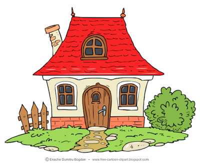 Little Cottage Home Cartoon Illustration Cartoon House