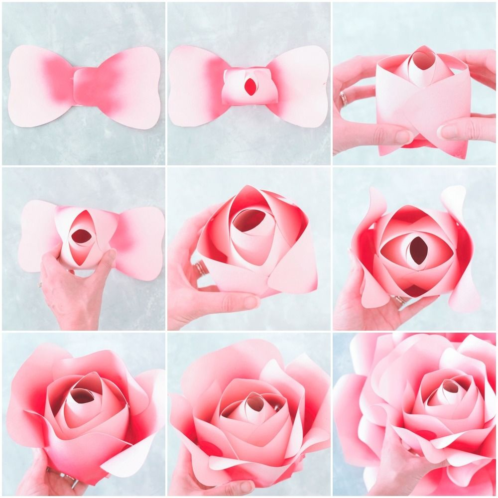 Alora Garden Giant Paper Rose Template Tutorial Paper Flowers