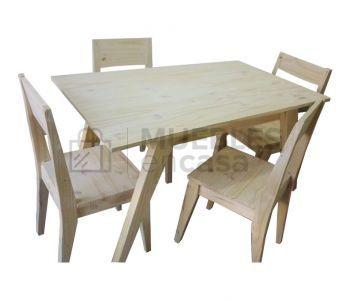 Mesa de comedor vintage 120x70 + 6 sillas vintage | Combos | Pinterest