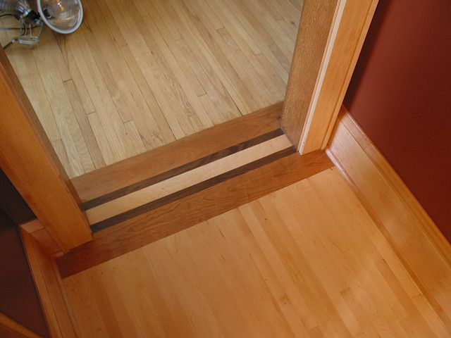 Wood Floor Transition Kitchen Flooring Old Wood