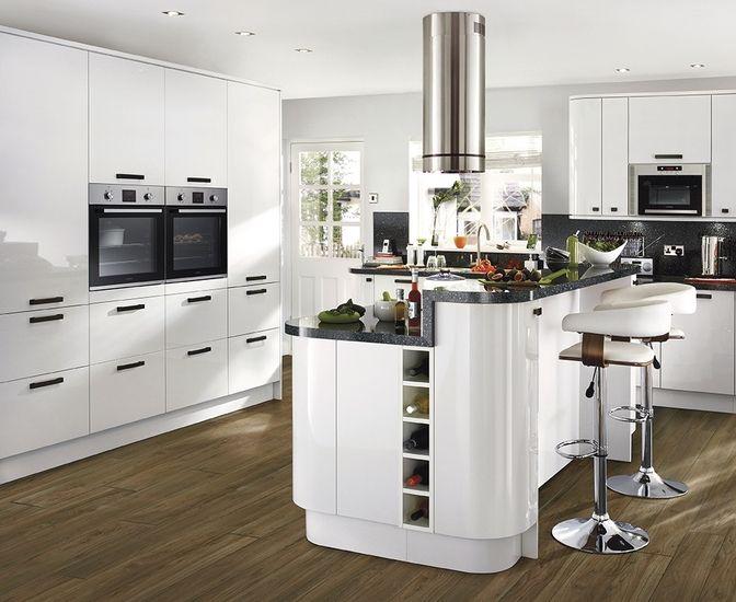 Kitchens White Gloss Kitchen White Kitchen Range Curved Kitchen