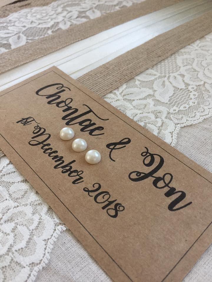 Handmade rustic wedding guest book