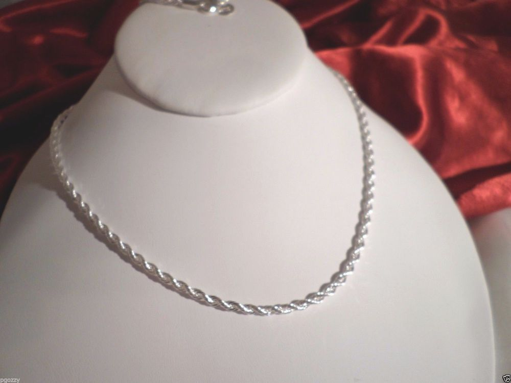 Sterling Silver Twisted Rope Chain Necklace Men S Women S 20 22 24 2mm Unbranded Chain Gold Chains For Men Mens Chain Necklace Necklace