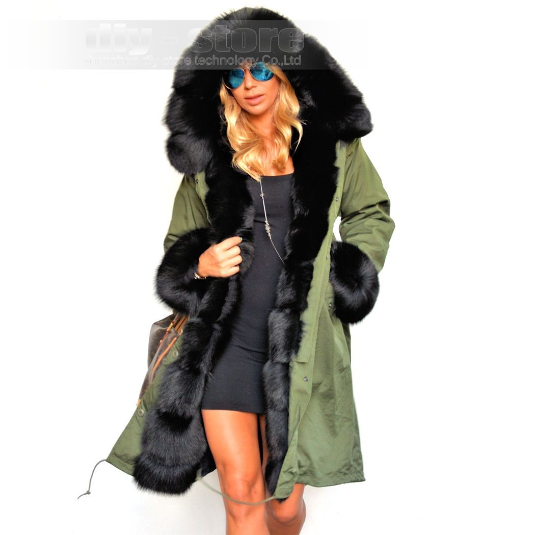 Womens Long Trench Thicken Winter Faux Fur Parka Coats Jackets Outwear Overcoat