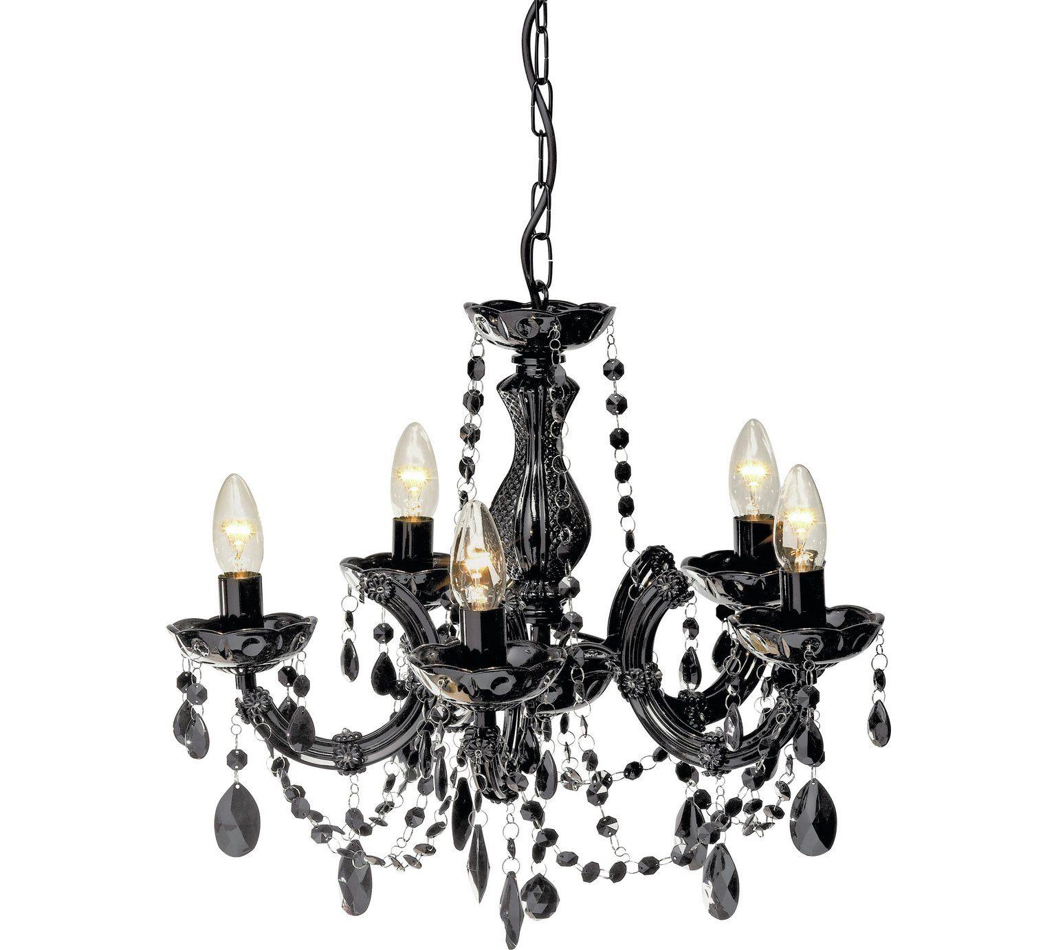 Buy collection inspire 5 light chandelier black at argos buy collection inspire 5 light chandelier black at argos visit arubaitofo Choice Image