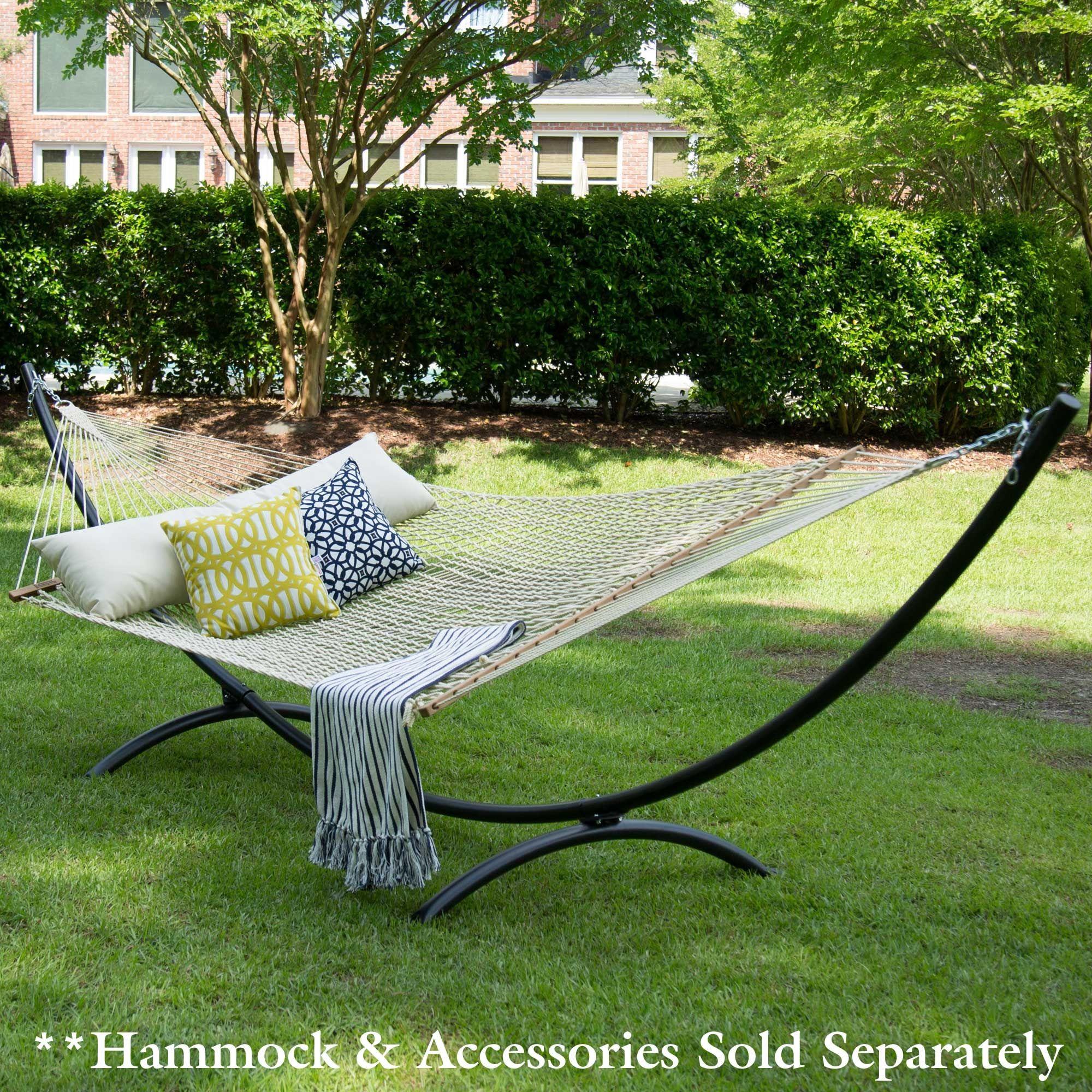 Steel arc hammock stand black home pinterest terrazas