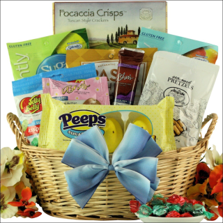 Gourmet sugar free easter gift baskets confetti crunch gifts gourmet sugar free easter gift baskets negle Image collections