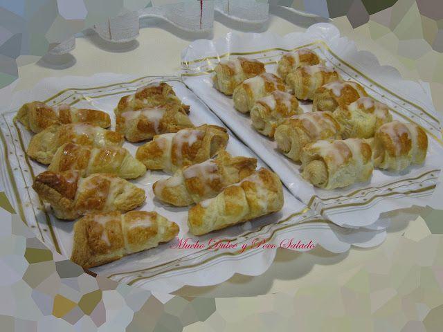 Canutillos de crema pastelera